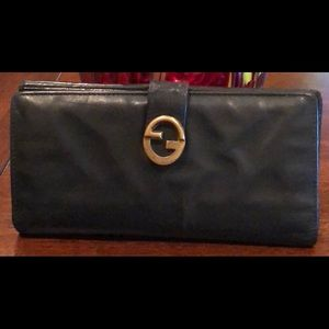 GUCCI tri-fold RARE VINTAGE double G unisex Used